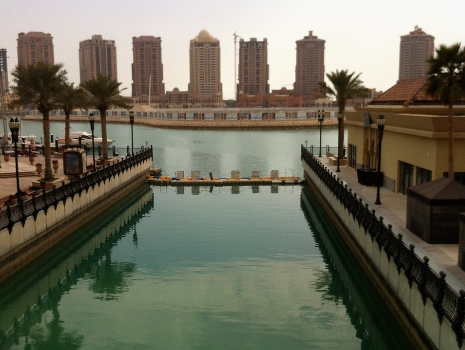 Active in the Water at Costa Malaz Doha  Qatar