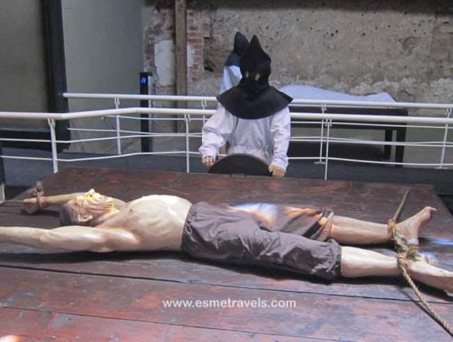 Touring the Lima's Museum of the Inquisition