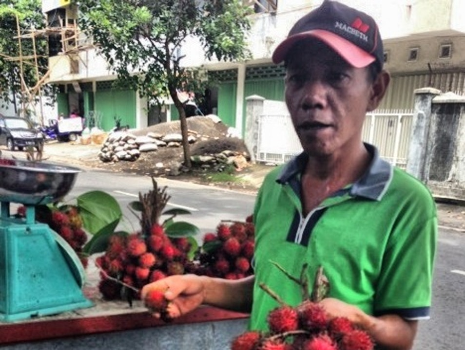 Sampling from the fruit vendors in Matram, Lombok Mataram  Indonesia