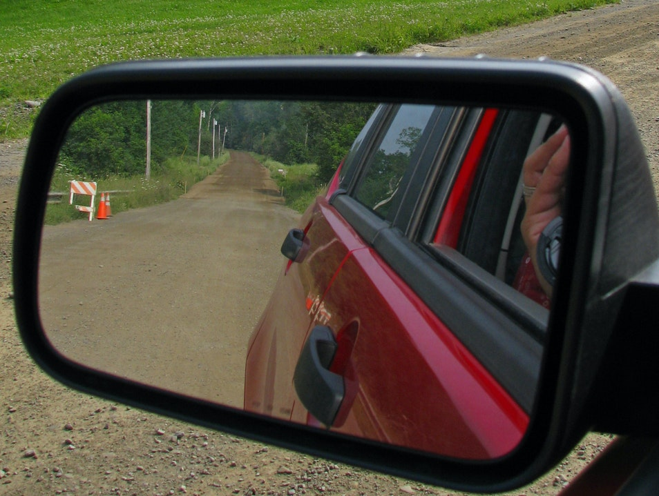 from the rearview mirror Corinna Maine United States