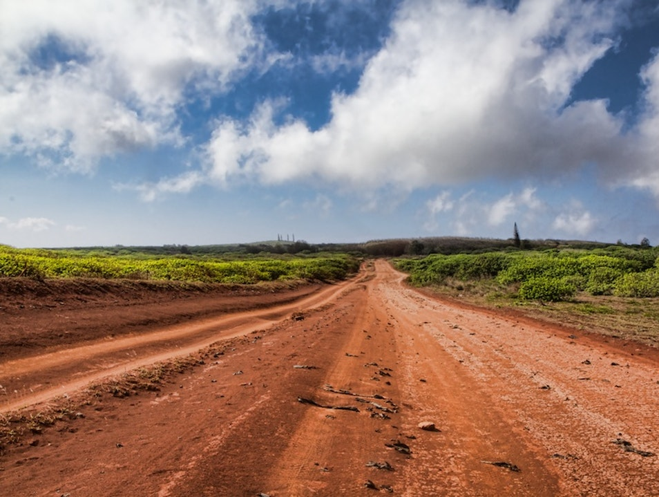 Where The Asphalt Ends - Lana'i Lanai City Hawaii United States