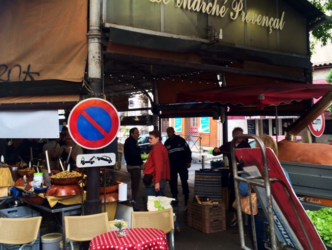 The outdoor market in Antibes France