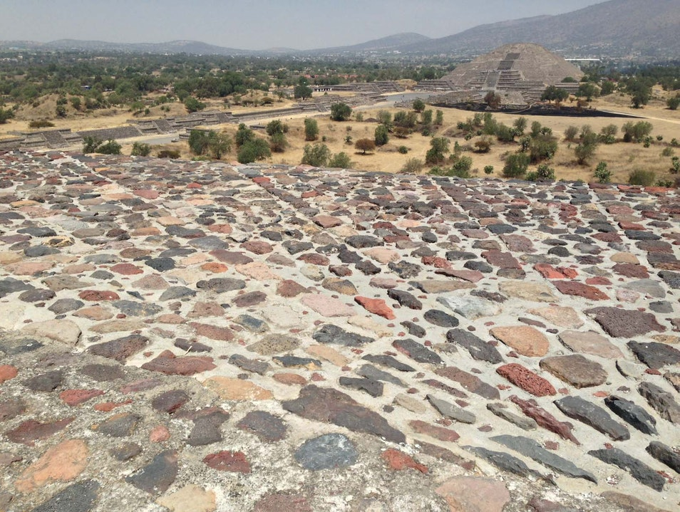 Pyramids of the Sun and Moon at Teotihuacan State of Mexico  Mexico