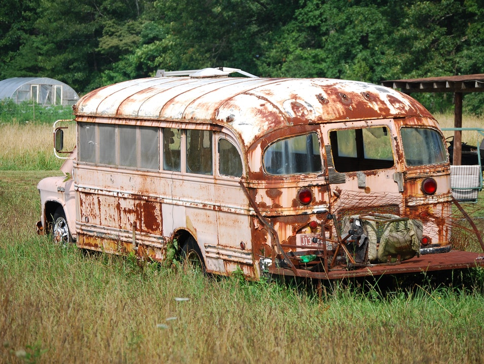 Peach Bus Sewanee Tennessee United States