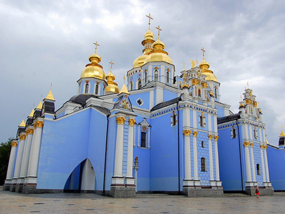 Golden Domes of Saint Michael's Monastery