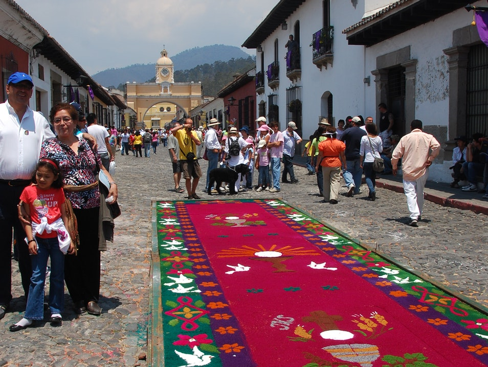 The Alfombras of Semana Santa Antigua Guatemala  Guatemala