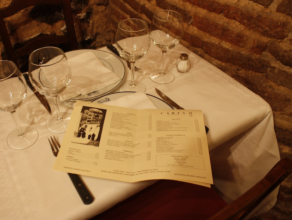 Dine at the Oldest Restaurant in the World Madrid  Spain