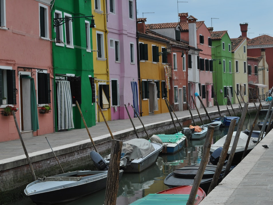 Canals and Color in Burano Venice  Italy