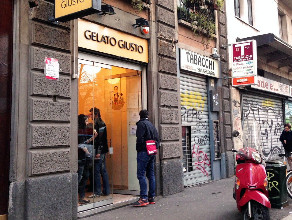 Just the right gelato Milan  Italy