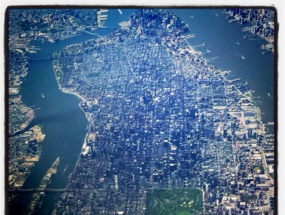 A Rare View From The Plane New York New York United States