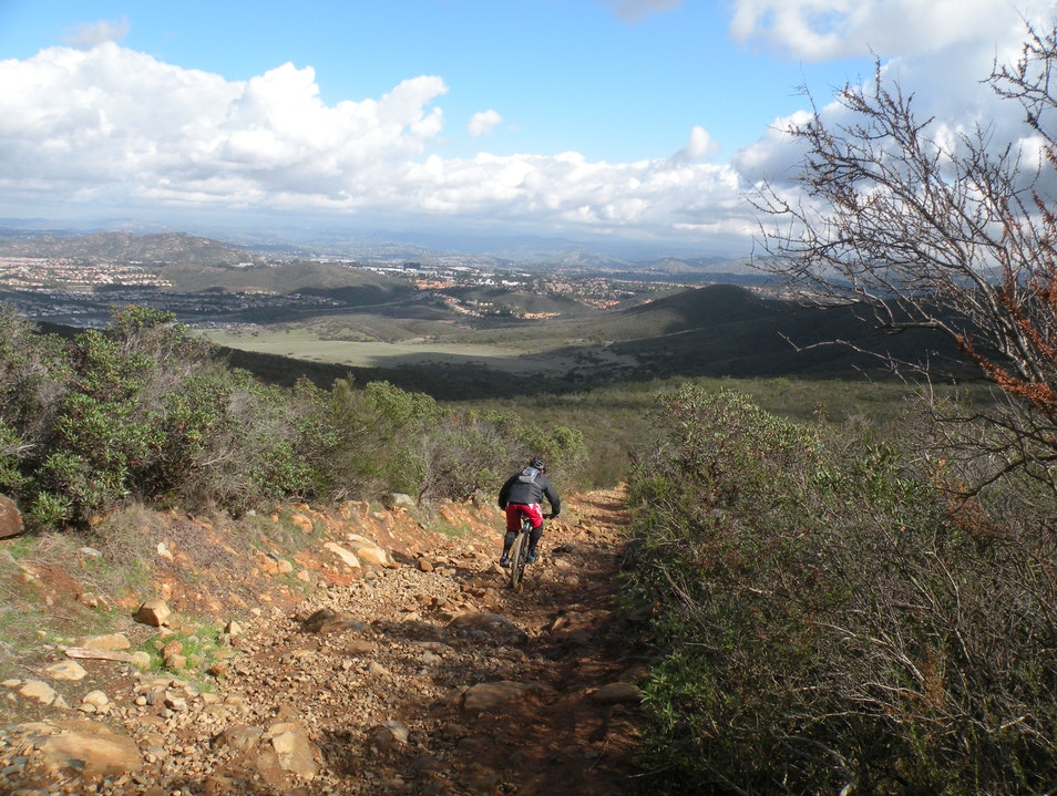 Hiking, Running or Mountain Biking with 360 degree views of San Diego, CA