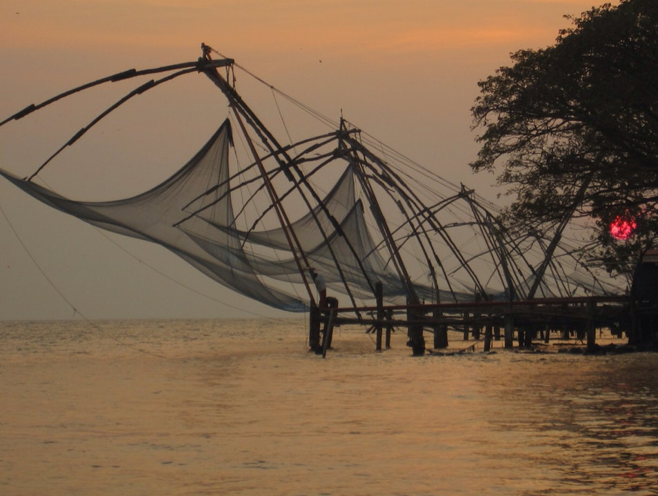 Cochin Fishing Nets At Dusk Kochi  India