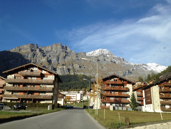 Leukerbad in heart of Valais