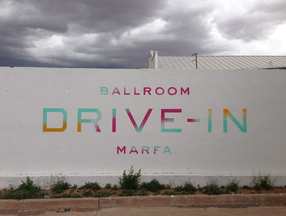 Drive Into the Ballroom Marfa Texas United States