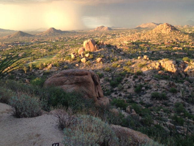 Dust Storms From Pinnacle Peak