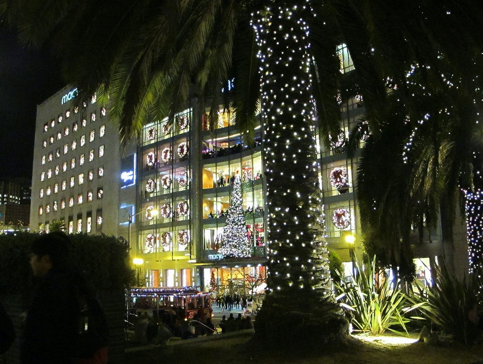 Union Square in the Holiday Season San Francisco California United States