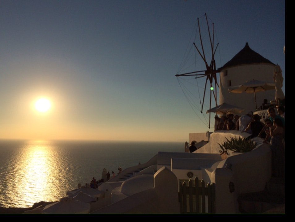 Don't miss the sunset in Oia Oia  Greece