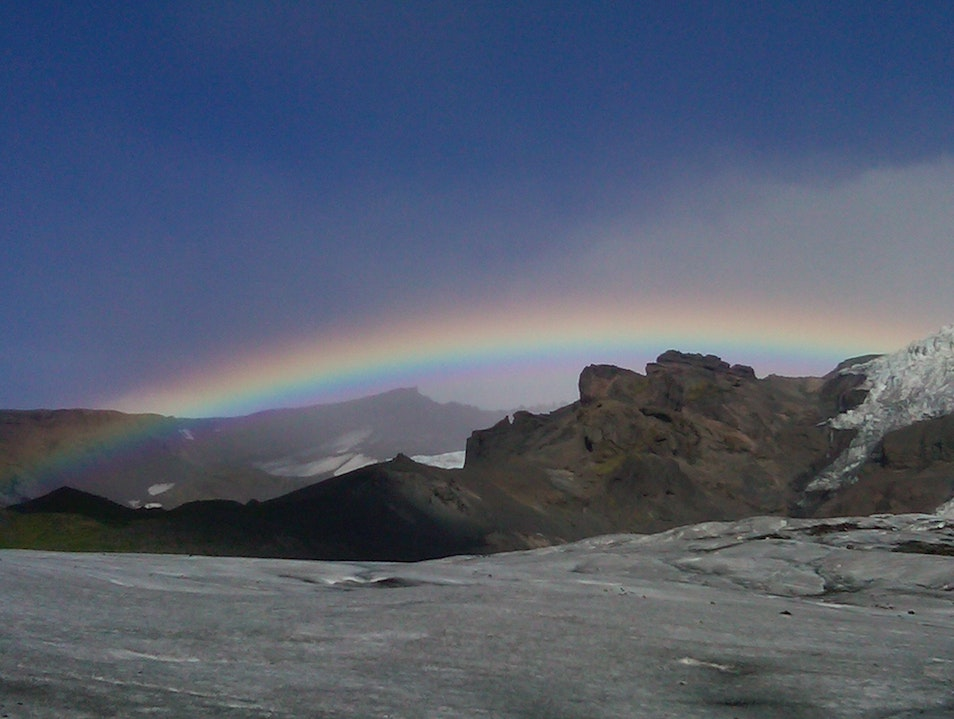 Rainbow Reward Skaftafell National Park  Iceland