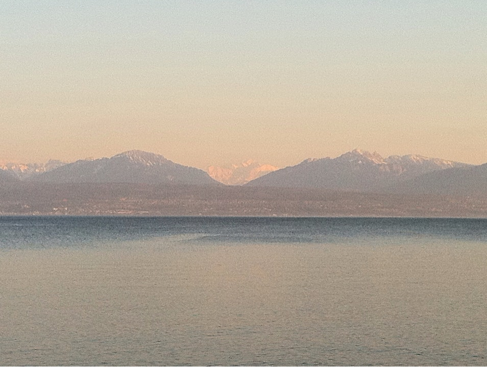 Mt-Blanc and the Alps Morges  Switzerland