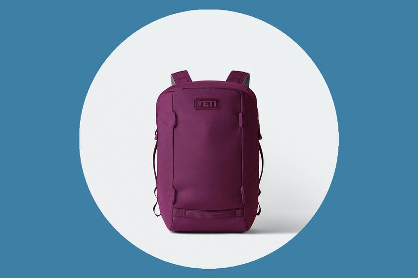 The Yeti Crossroads 22L backpack is seen here in Prickly Pear Pink.
