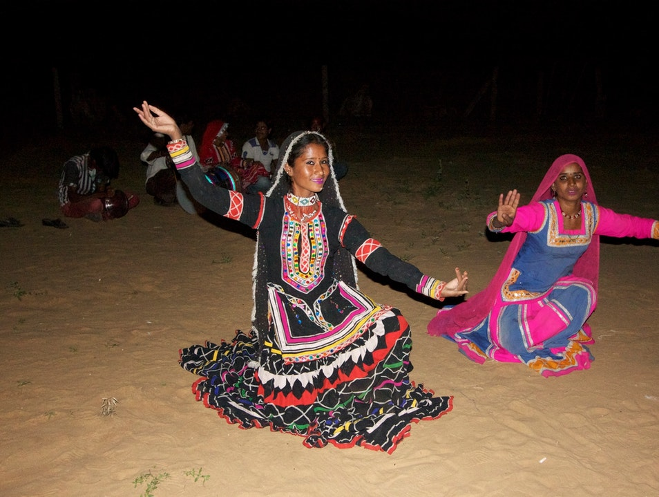 Dancers in the desert  Pushkar  India