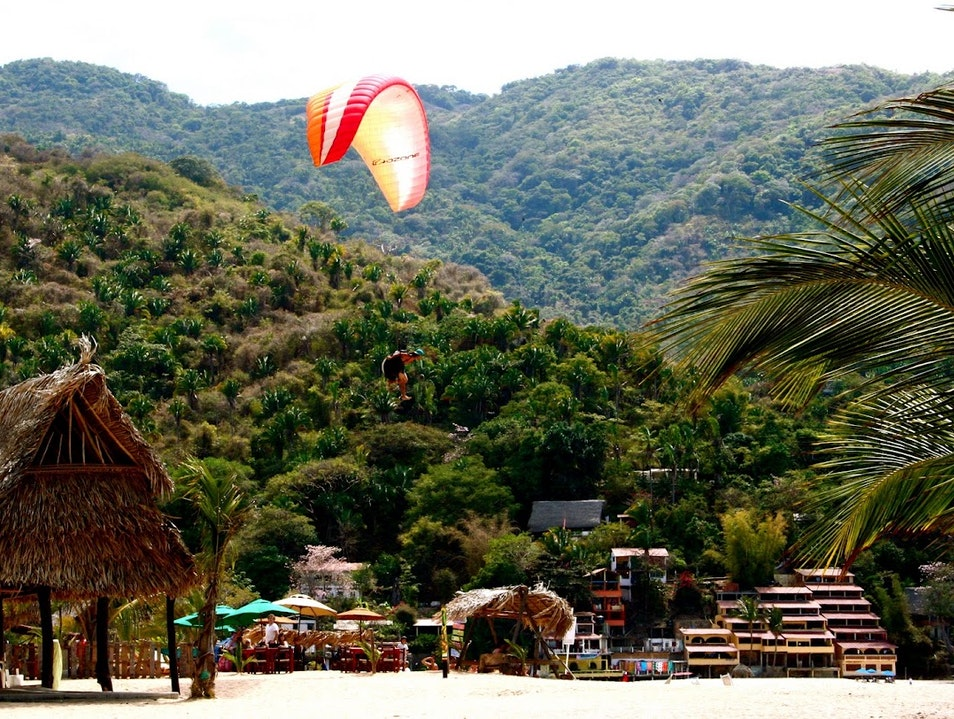 Margaritas and Parachutes. Yelapa  Mexico
