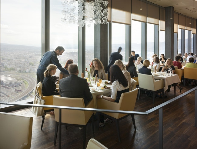 High-in-the-Sky Dining in Zurich West