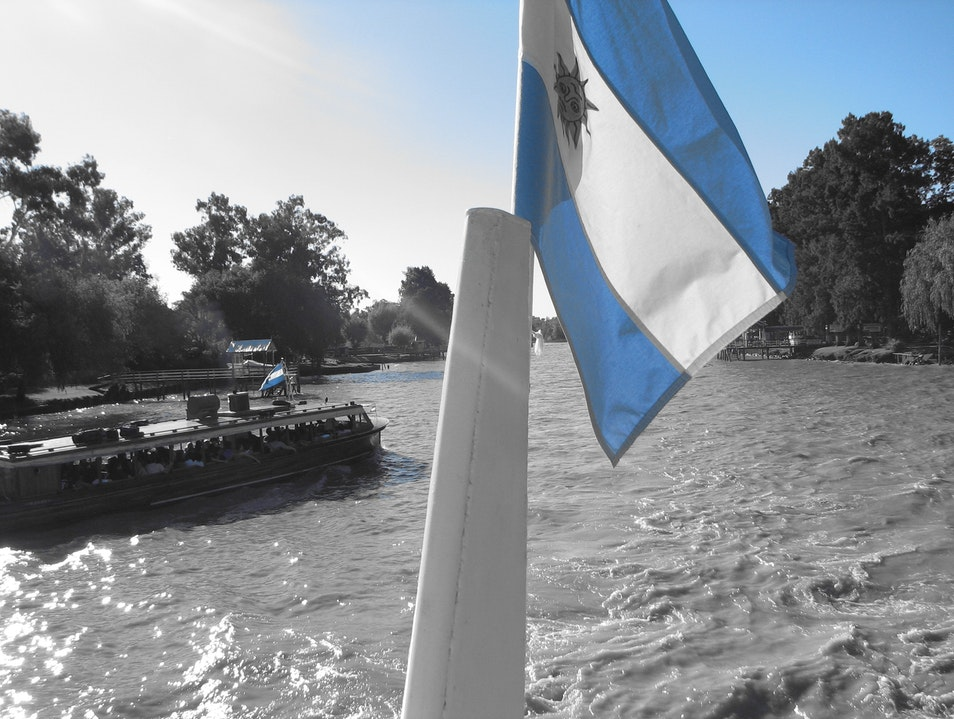 Cruising the Delta on a River Taxi Tigre  Argentina