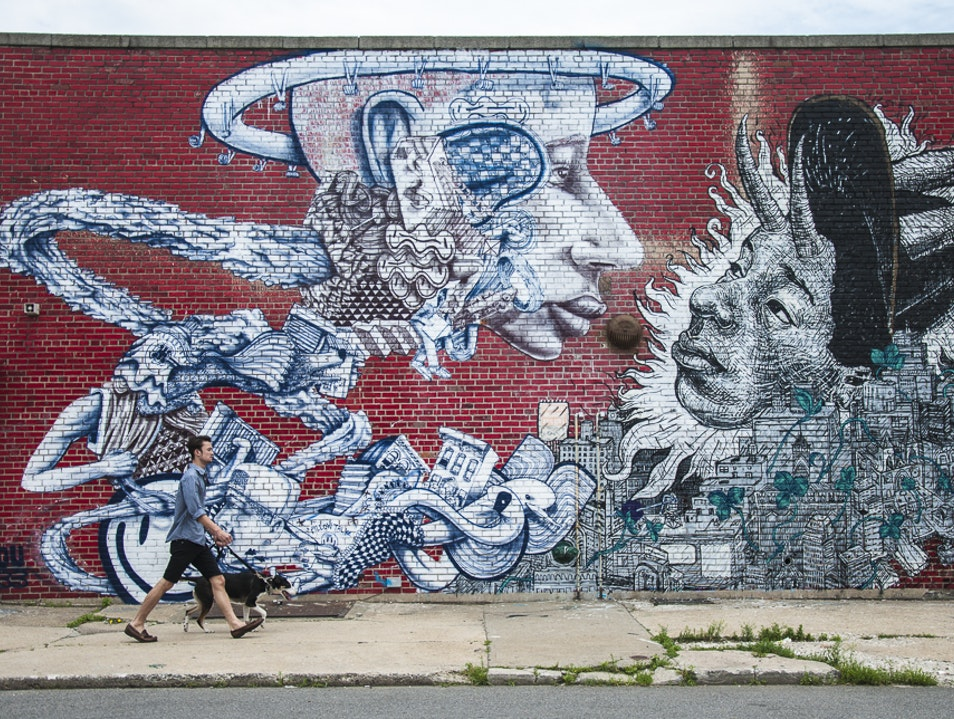 Bushwick Collective's scene in Brooklyn  Brooklyn New York United States