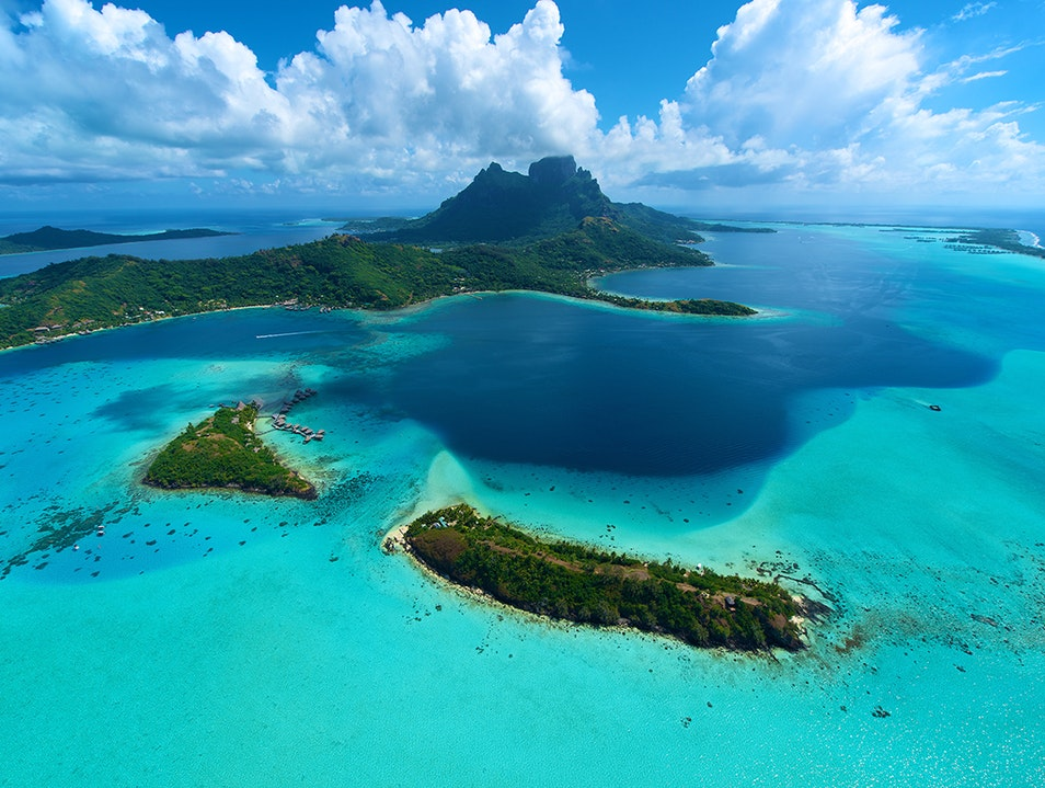 Bora Bora From Above: Heli Tour Bora Bora  French Polynesia