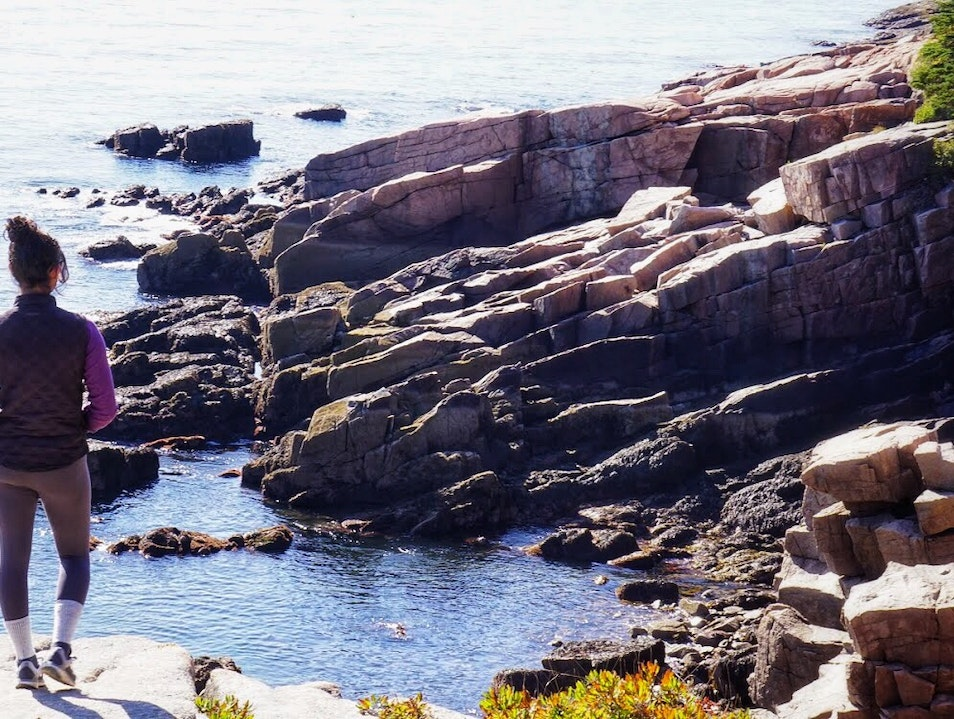 Exploring the Acadia coastline Bar Harbor Maine United States