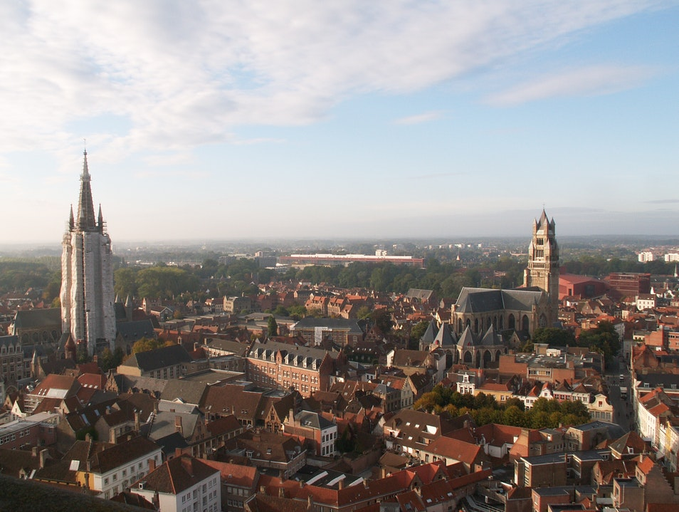 View from the top (of the Bell Tower) Bruges  Belgium