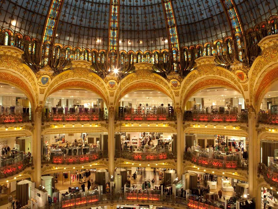 Gourmet Food Area at Galeries Lafayette  Paris  France