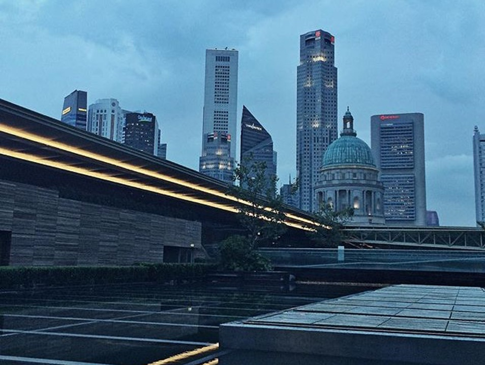 Drinks with a view at the new National Gallery Singapore  Singapore