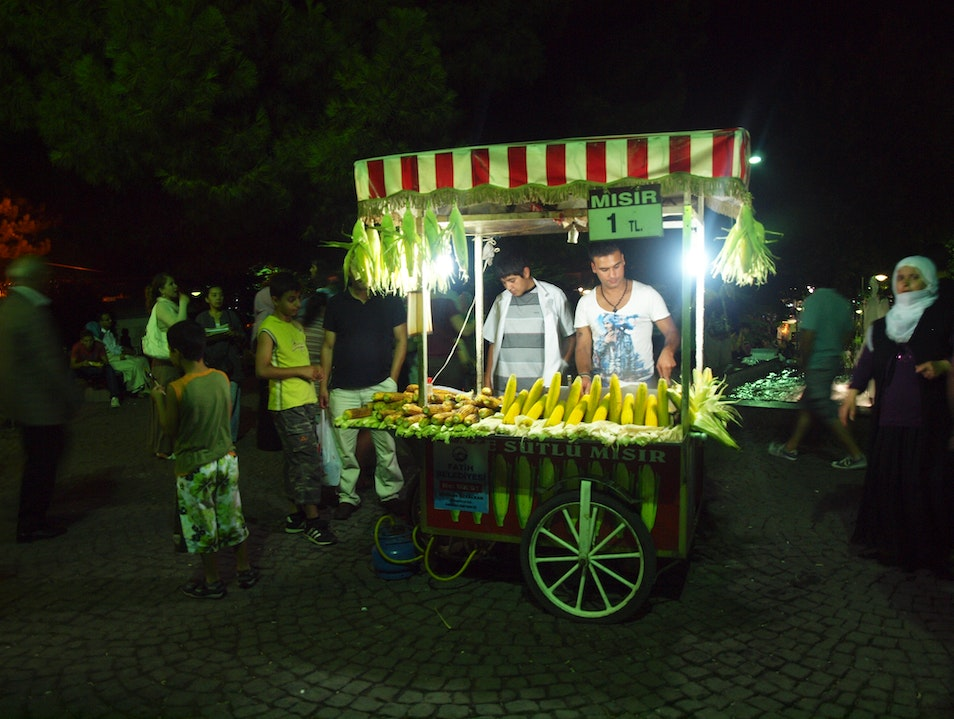 Corn on the Cob—the Cheapest Snack in Town Istanbul  Turkey