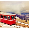 Pikes Peak Cog Railway Manitou Springs Colorado United States
