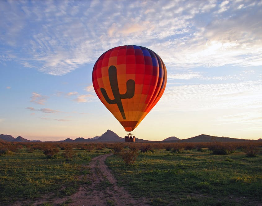 With the most flyable days per year in the country, Phoenix is home to Hot Air Expeditions among other hot air balloon outfitters.
