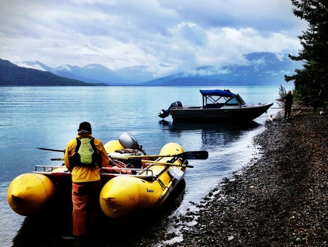 Arrive to Alaska's Kenai Backcountry Lodge by Raft