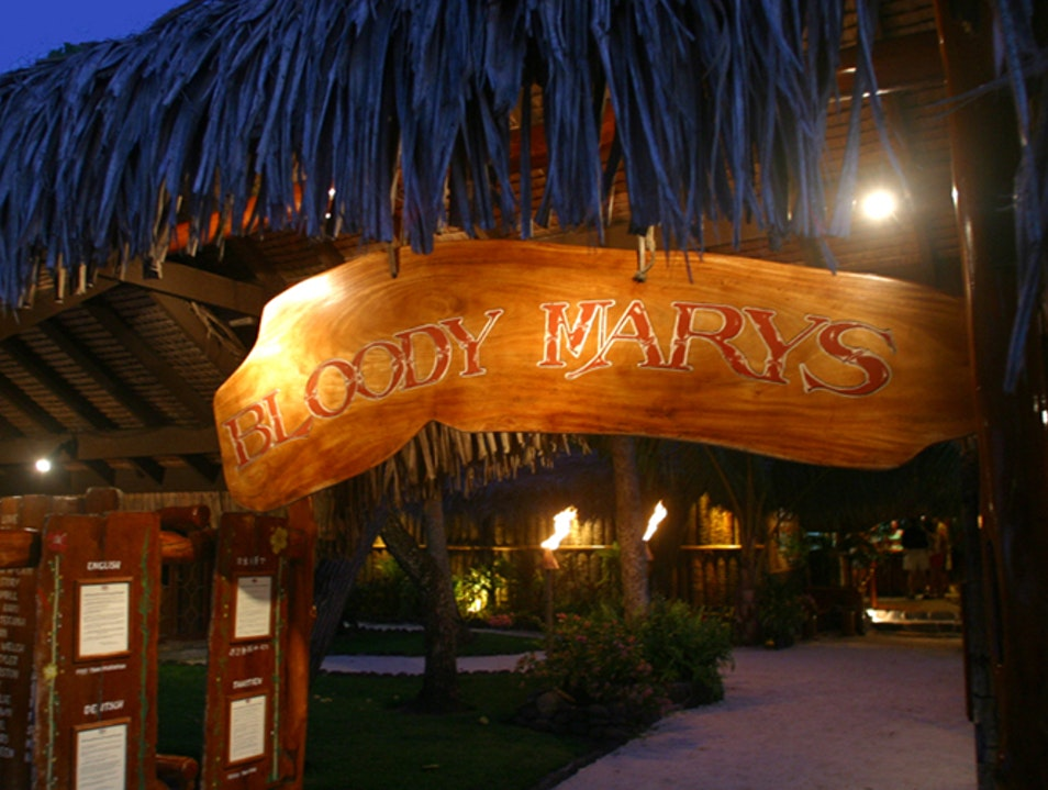 Bloody Mary's: A Bora Bora Institution Îles Sous Le Vent  French Polynesia
