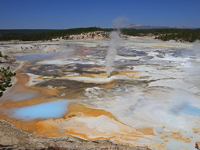 Norris Geyser Basin Yellowstone National Park Wyoming United States