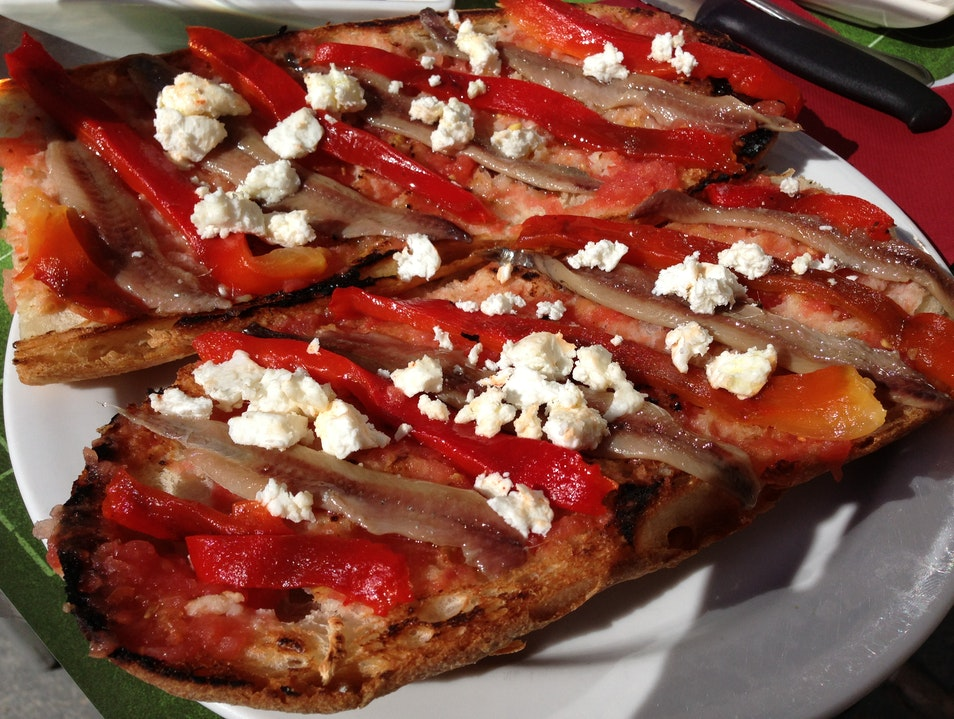 Try the Catalan version of Bruschetta in Vic Vic  Spain