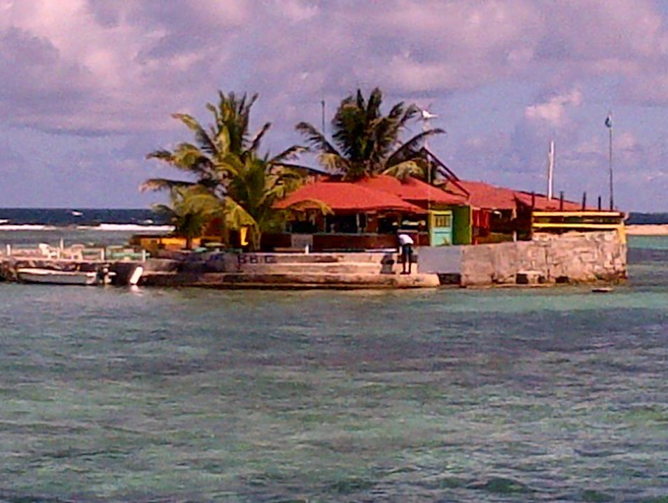 A very delightful man-made island in the Grenadines.  Clifton  Saint Vincent and the Grenadines