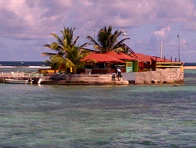 A very delightful man-made island in the Grenadines.