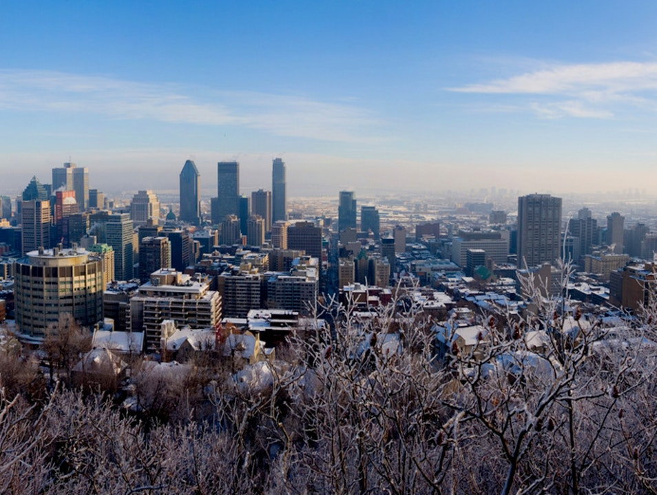 See What Winter is All About on the Mont-Royal Montreal  Canada