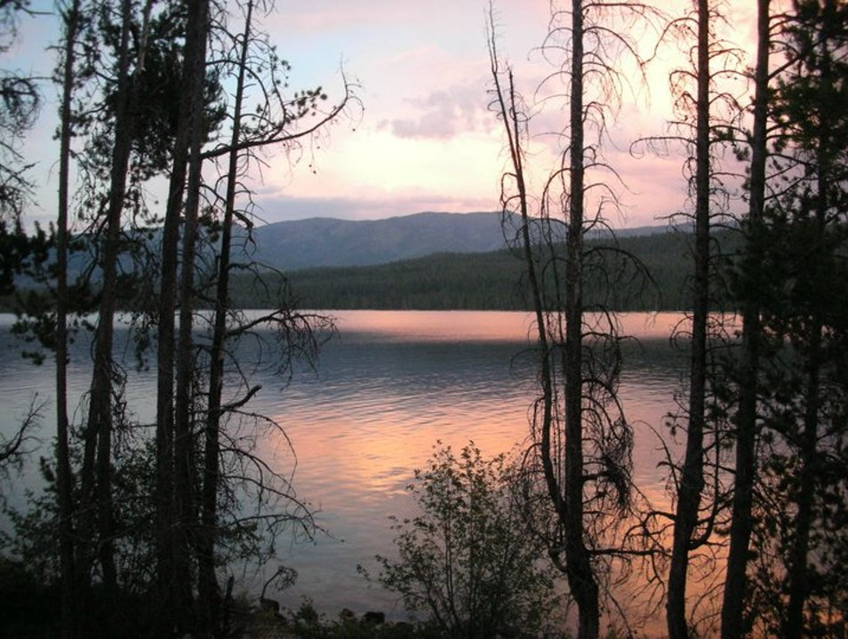 Camping at Redfish Lake Stanley Idaho United States