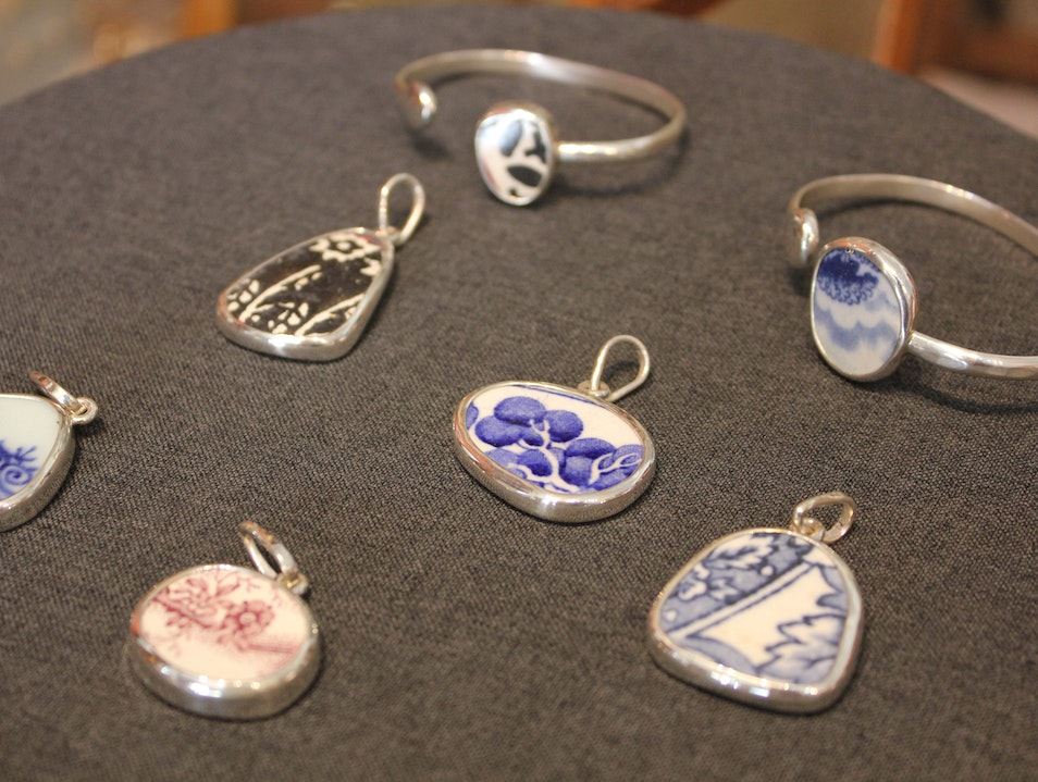 Chaney: Busted Crockery Becomes Jewelry Christiansted  United States Virgin Islands