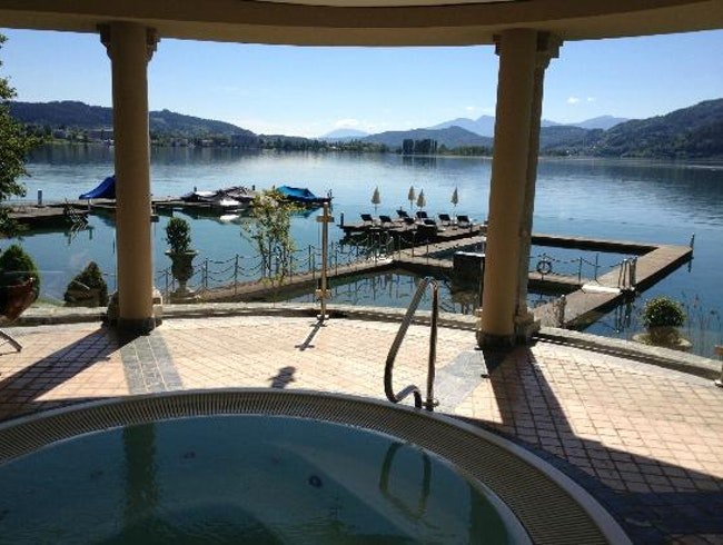 """A Lake with a Pool; A """"Salty-Hot"""" Rock Spa"""