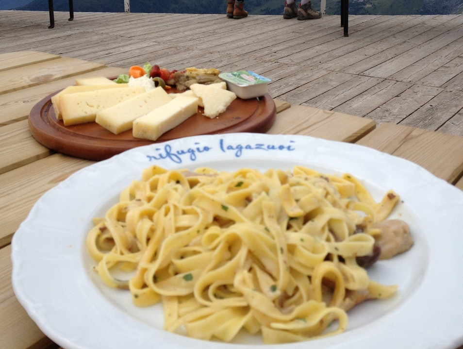 Food and an amazing view Cortina d'Ampezzo  Italy
