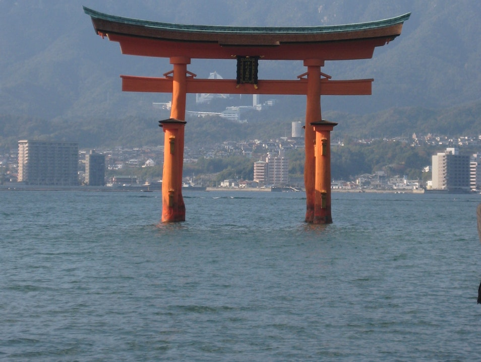 The floating torii Hatsukaichi  Japan