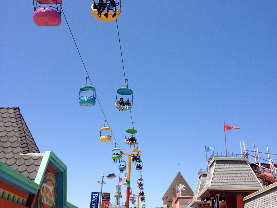 Skyward Bound On Santa Cruz Boardwalk Santa Cruz California United States